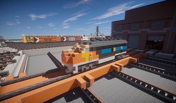 Un jugador recrea decenas de vehículos ferroviarios reales en Minecraft.