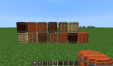 Simple Barrels Mod para Minecraft 1.10 y 1.10.2
