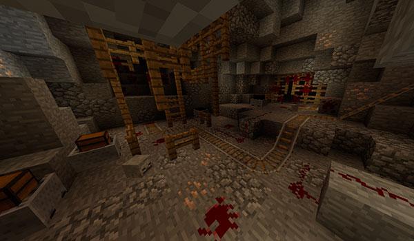 imagen donde vemos una de las zonas profundas de la mina que encontraremos en el mapa the hole.