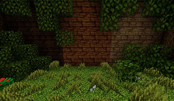Imagen donde podemos el aspecto de la vegetación y la tonalidad de la madera con esta paquete de texturas.