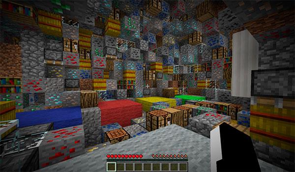 Imagen donde podemos ver a un jugador dentro de las cuevas que se generan en el mapa Blocked In Combat Map.