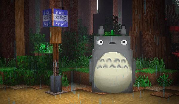 Recrean el universo de Mi vecino Totoro en Minecraft.