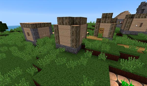 imagen donde vemos una aldea decorada con este paquete de texturas realistas.