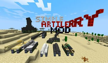 Customizable Artillery Mod para Minecraft 1.10.2