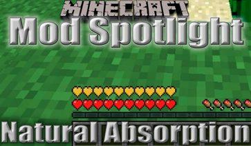 Natural Absorption Mod para Minecraft 1.10.2