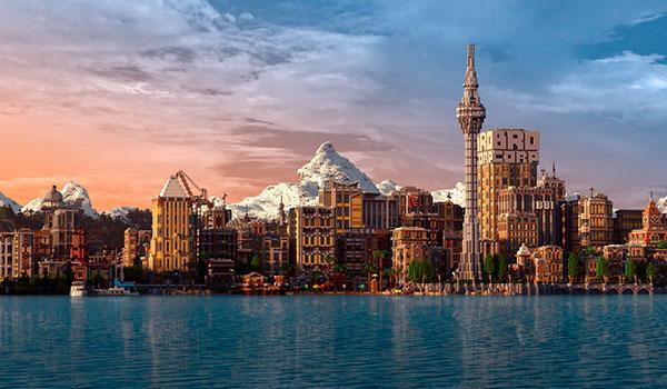 Más de 4 años creando una ciudad, tan bella como enorme, en Minecraft. Así es Broville.