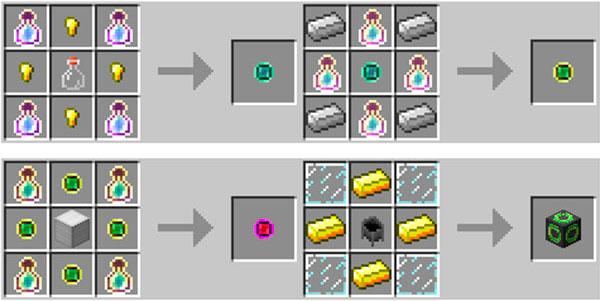 Imagen donde podemos ver la forma correcta de fabricar los anillos que añade este mod.