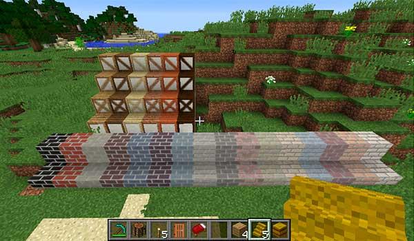 Imagen donde podemos ver algunas de las variantes de bloques de construcción que podremos utilizar con este mod.