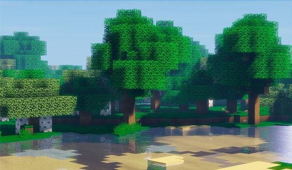 Imagen de un paisaje donde podemos ver el aspecto de las texturas que añade este pack de texturas.