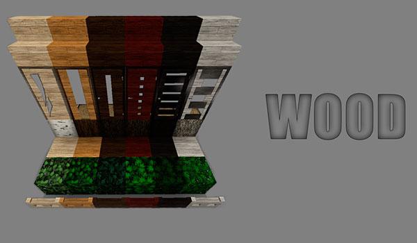Imagen donde podemos ver el aspecto de las puertas y vallas de madera, utilizando este paquete de texturas.