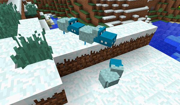 Imagen donde podemos a ver a una variante de los Crocoducks, en un bioma helado.