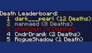 Death Counter Mod para Minecraft 1.11