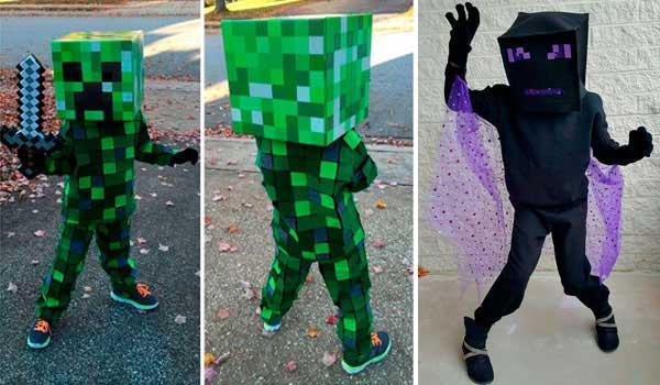 15 Ideas para hacer tu disfraz de Minecraft