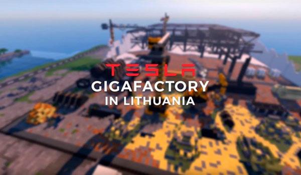 Lituania recrea una Gigafactoría Tesla, en Minecraft, y enamora a Tesla Motors