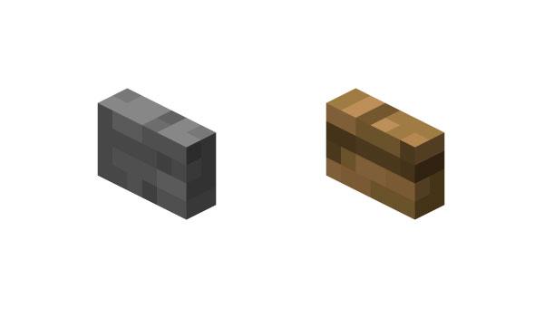 Botón en Minecraft