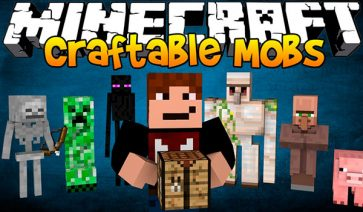 Craftable Animals Mod para Minecraft 1.11 y 1.11.2
