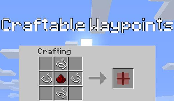 Craftable Waypoints Mod para Minecraft 1.11 y 1.11.2
