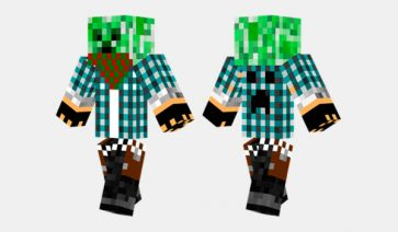 Creeper Gangster Skin para Minecraft