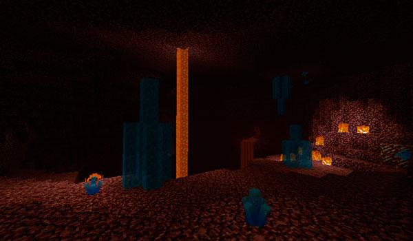 Imagen donde podemos ver como también se generan estos nuevos cristales en la dimensión del Nether.