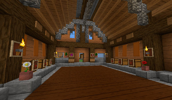 Imagen donde vemos el interior de una vivienda, decorada con las texturas durzocraft.