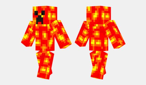 Lava Creeper Skin para Minecraft