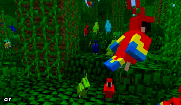 Spoiler Minecraft 1.12: Llegan los Loros al bioma de Jungla