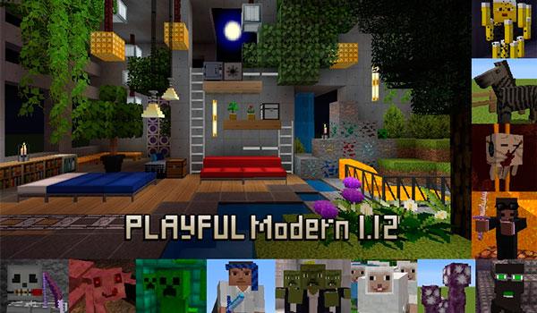 Playful Modern Texture Pack para Minecraft 1.12 y 1.11