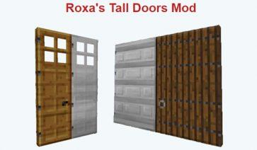 Roxa's Tall Doors Mod para Minecraft 1.11