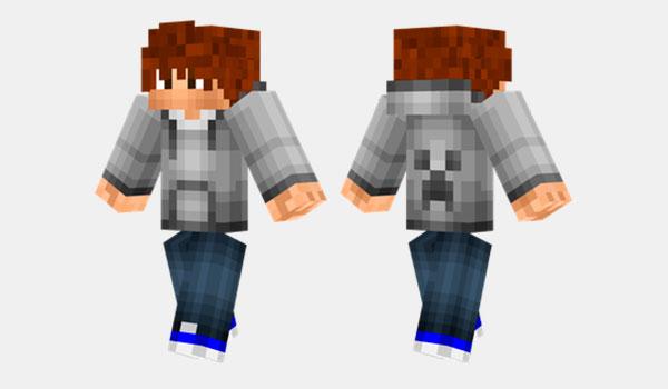 Gray Hoodie Skin para Minecraft