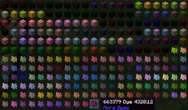 More Dyes Mod para Minecraft 1.11
