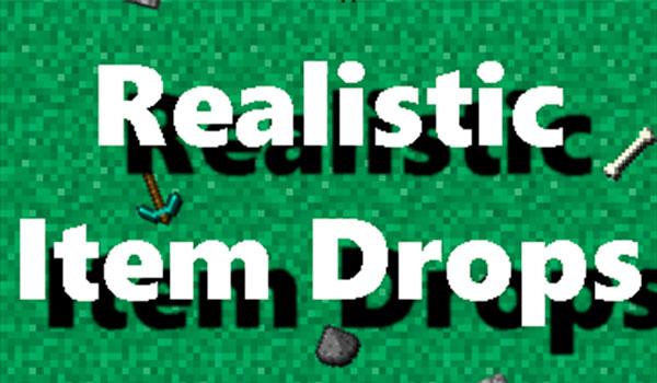 Realistic Item Drops Mod para Minecraft 1.11.2