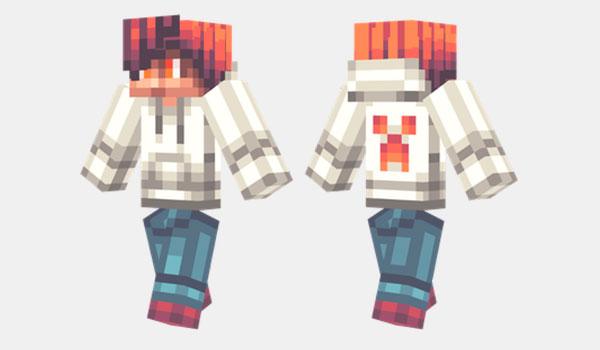 White Hoodie Skin para Minecraft