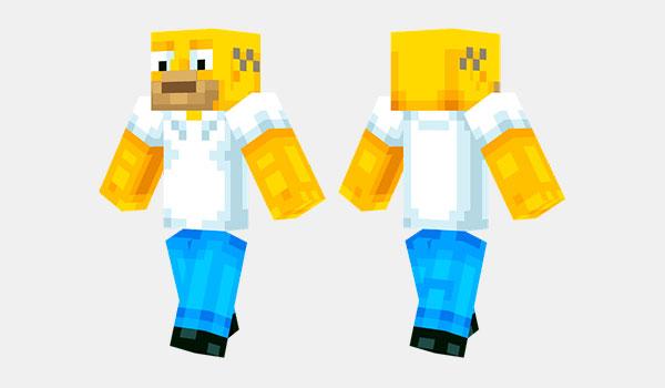 Homer Simpson Skin para Minecraft