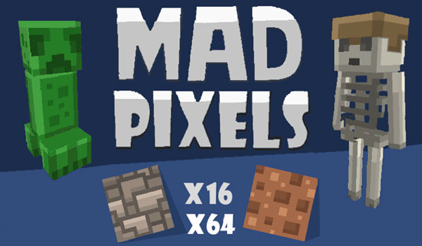 Mad Pixels Texture Pack para Minecraft 1.11