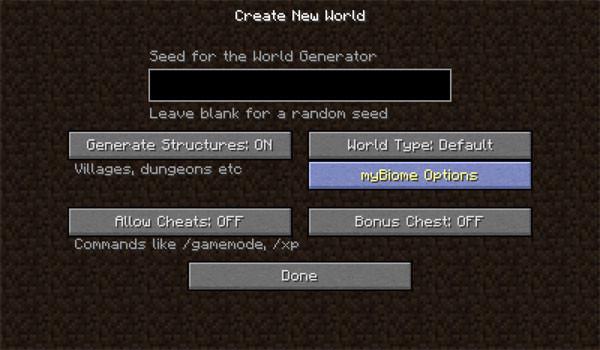 myBiomes Mod para Minecraft 1.11 y 1.11.2