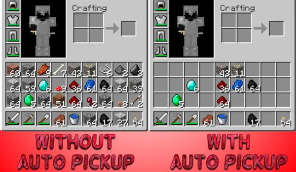 Imagen donde podemos ver una comparación entre un inventario, sin y con este mod instalado.