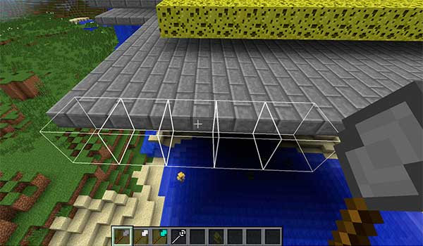 Imagen donde vemos un jugador utilizando una de las varitas de construcción rápida que añade el mod Better Builder's Wands 1.12, 1.12.1 y 1.12.2.