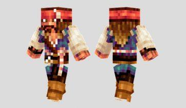 Captain Jack Sparrow Skin para Minecraft