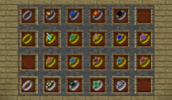 Imagen donde podemos ver todas las variantes de anillos que podremos crear con este mod.