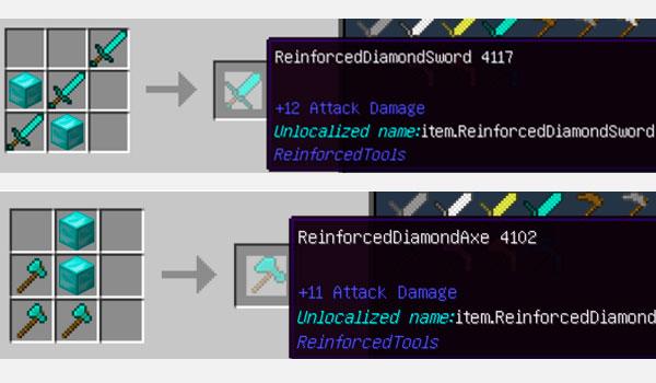 Reinforced Tools Mod para Minecraft 1.12