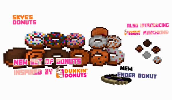 Skye's Donuts Mod para Minecraft 1.11.2