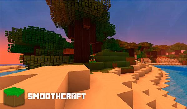 Imagen donde vemos un desierto decorado con las texturas Smoothcraft Texture 1.12 y 1.11.