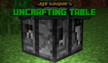 Uncrafting Table 1.12