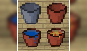 Clay Bucket Mod para Minecraft 1.12, 1.12.1 y 1.12.2
