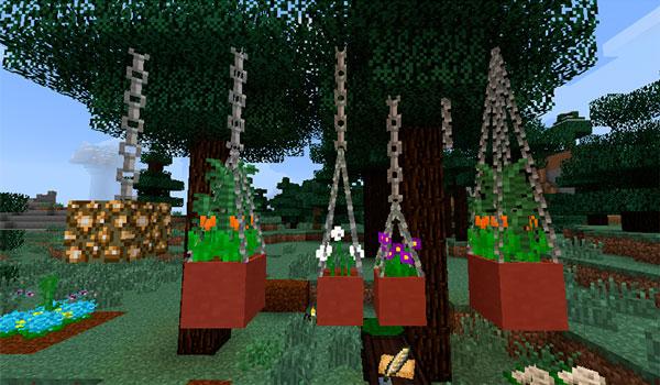 Imagen donde podemos ver uno de los objetos de decoración para jardines del mod Garden Stuff 1.12.