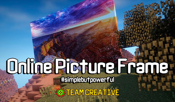 Online Picture Frame Mod para Minecraft 1.12, 1.12.1 y 1.12.2
