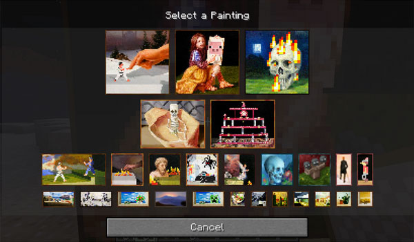 Painting Selection GUI Mod para Minecraft 1.12
