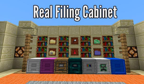 Real Filing Cabinet Mod para Minecraft 1.12