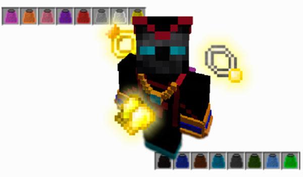 Imagen donde podemos ver algunos ejemplos de los objetos extra que podremos equipar a nuestro personaje, con el mod RPG Inventory 1.12 y 1.12.2, para conseguir nuevas habilidades.