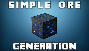 Simple Ore Generation Mod para Minecraft 1.12, 1.12.1 y 1.12.2
